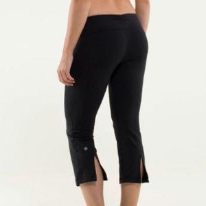 Lululemon Black Slit Crop Leggings Size 6